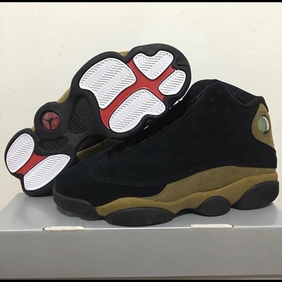 quality design 2a064 fc3f0 Air Jordan Olive Green 13's